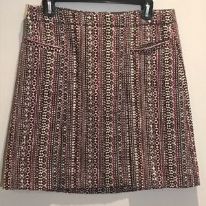 Etcetera Skirt Woven Straight Short Lined Size 8